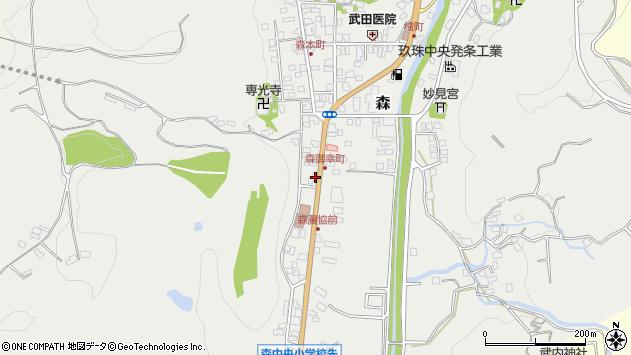 大分県玖珠郡玖珠町森1020周辺の地図