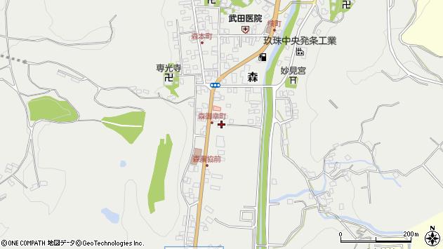 大分県玖珠郡玖珠町森36周辺の地図