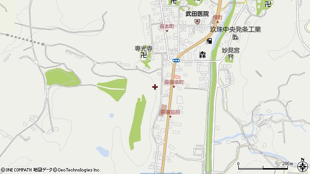 大分県玖珠郡玖珠町森新町周辺の地図