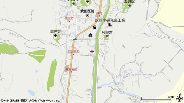大分県玖珠郡玖珠町森46周辺の地図