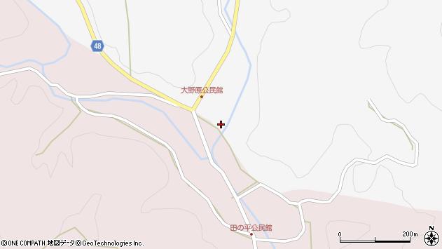 大分県玖珠郡玖珠町四日市1666周辺の地図