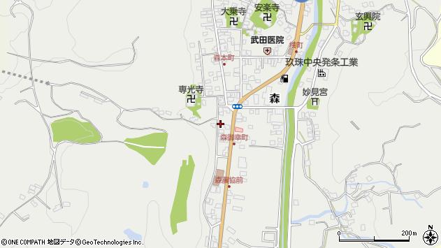 大分県玖珠郡玖珠町森1013周辺の地図