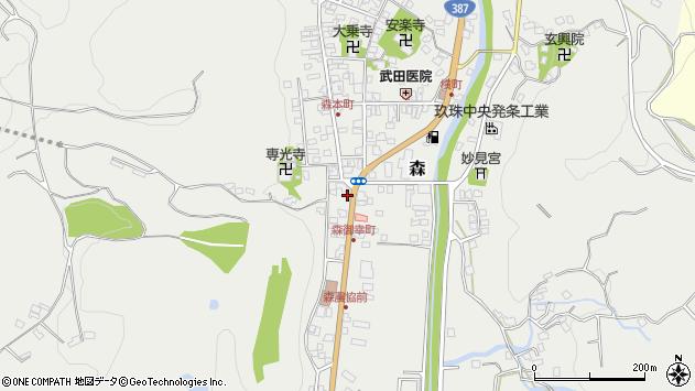 大分県玖珠郡玖珠町森1323周辺の地図
