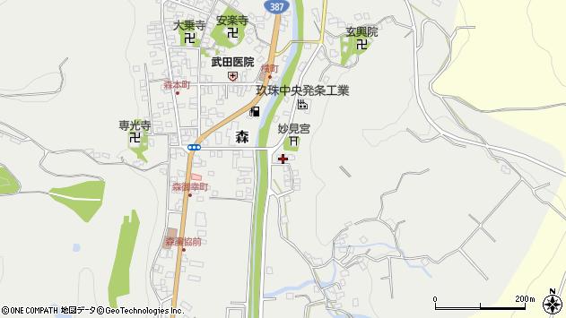 大分県玖珠郡玖珠町森648周辺の地図