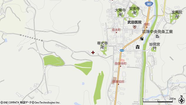 大分県玖珠郡玖珠町森1317周辺の地図