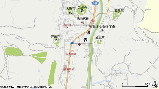 大分県玖珠郡玖珠町森41周辺の地図