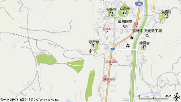 大分県玖珠郡玖珠町森1311周辺の地図