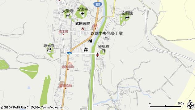 大分県玖珠郡玖珠町森686周辺の地図