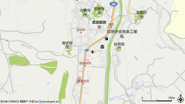 大分県玖珠郡玖珠町森40周辺の地図