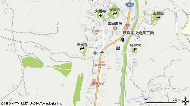 大分県玖珠郡玖珠町森1010周辺の地図