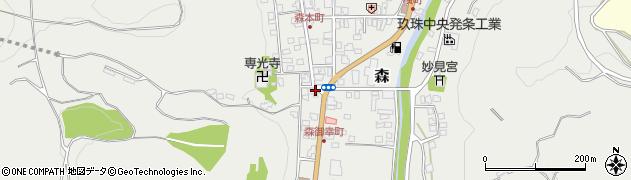 大分県玖珠郡玖珠町森1016周辺の地図