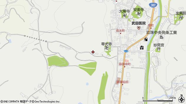 大分県玖珠郡玖珠町森1322周辺の地図