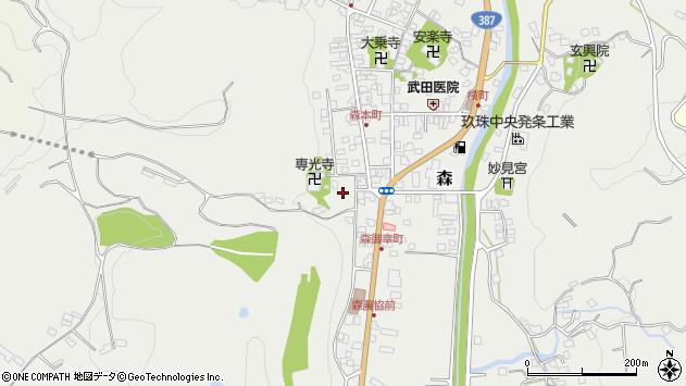 大分県玖珠郡玖珠町森1037周辺の地図