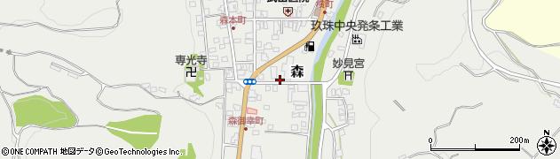 大分県玖珠郡玖珠町森690周辺の地図