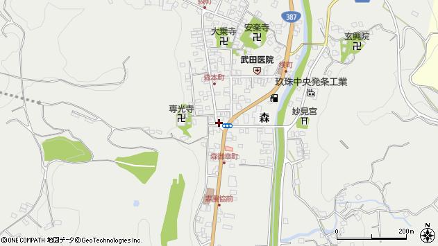 大分県玖珠郡玖珠町森1007周辺の地図