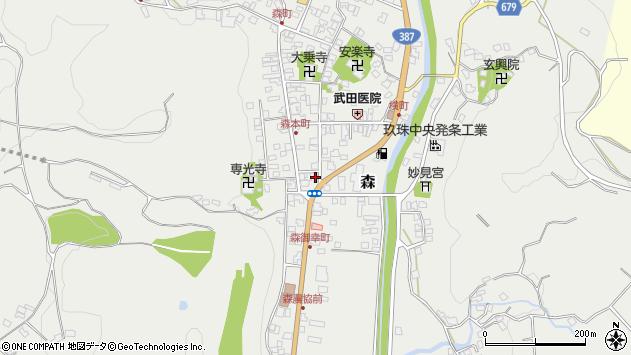 大分県玖珠郡玖珠町森990周辺の地図