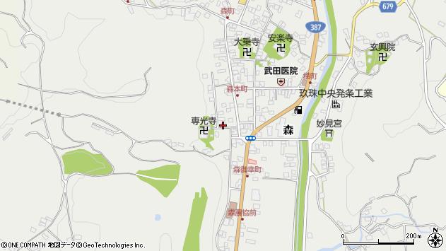 大分県玖珠郡玖珠町森1045周辺の地図