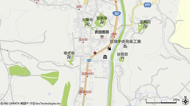 大分県玖珠郡玖珠町森982周辺の地図