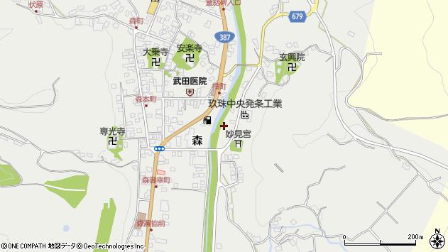 大分県玖珠郡玖珠町森685周辺の地図