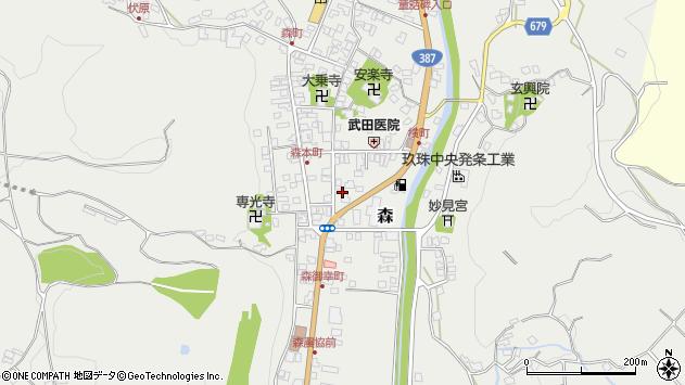 大分県玖珠郡玖珠町森977周辺の地図