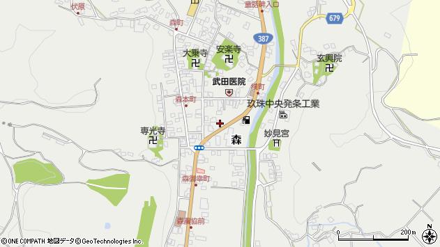 大分県玖珠郡玖珠町森978周辺の地図