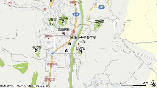 大分県玖珠郡玖珠町森684周辺の地図