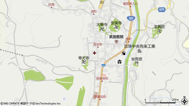大分県玖珠郡玖珠町森1050周辺の地図
