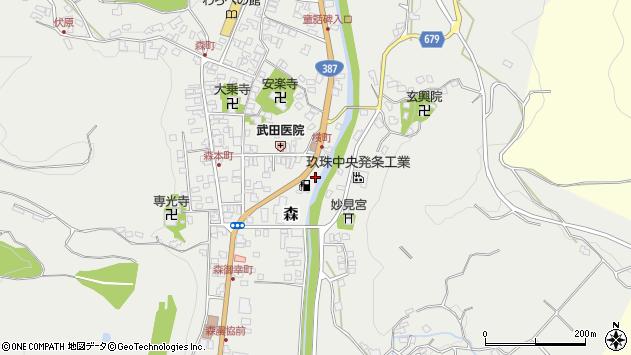 大分県玖珠郡玖珠町森688周辺の地図