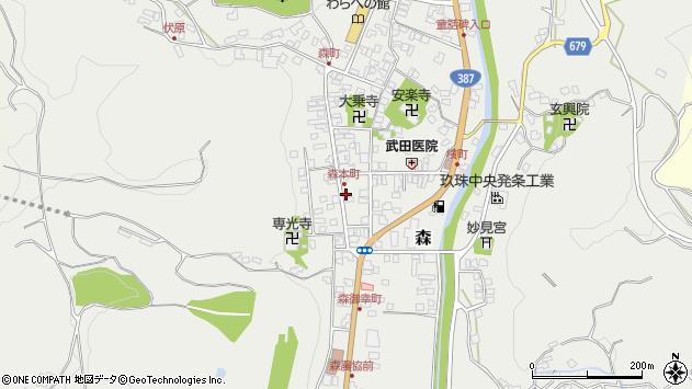 大分県玖珠郡玖珠町森999周辺の地図