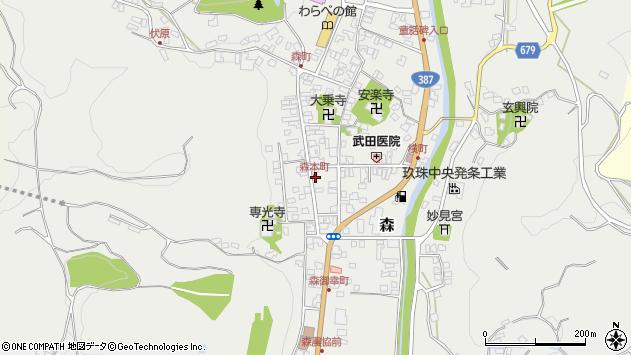 大分県玖珠郡玖珠町森997周辺の地図