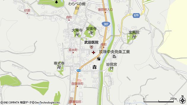 大分県玖珠郡玖珠町森962周辺の地図