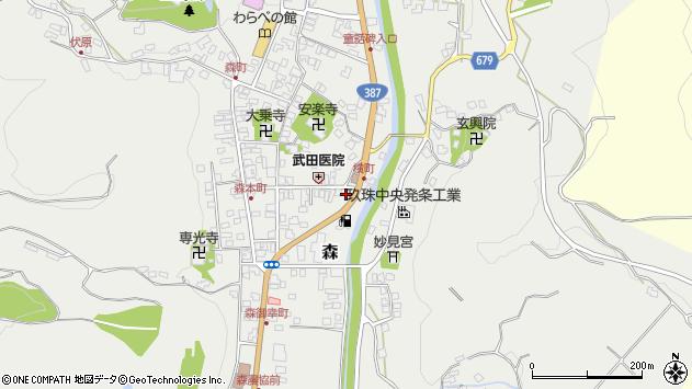 大分県玖珠郡玖珠町森696周辺の地図