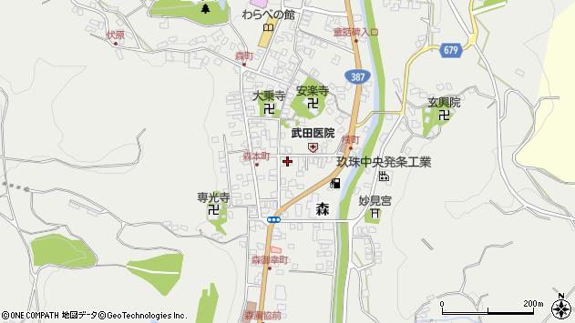 大分県玖珠郡玖珠町森970周辺の地図