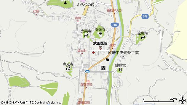 大分県玖珠郡玖珠町森965周辺の地図