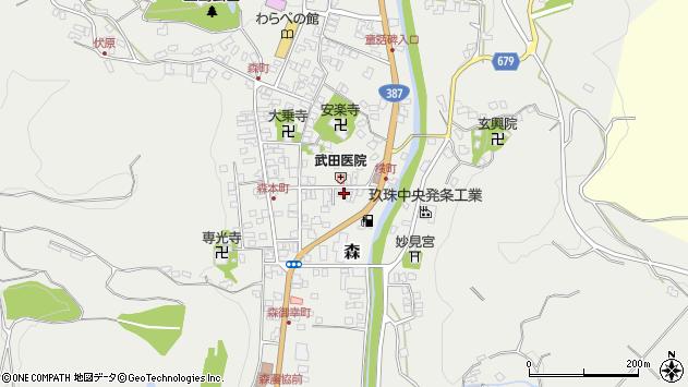 大分県玖珠郡玖珠町森963周辺の地図