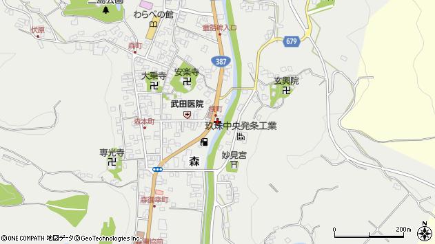 大分県玖珠郡玖珠町森692周辺の地図