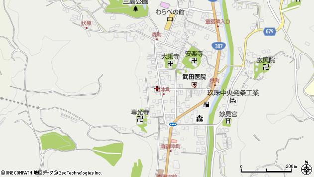大分県玖珠郡玖珠町森1059周辺の地図