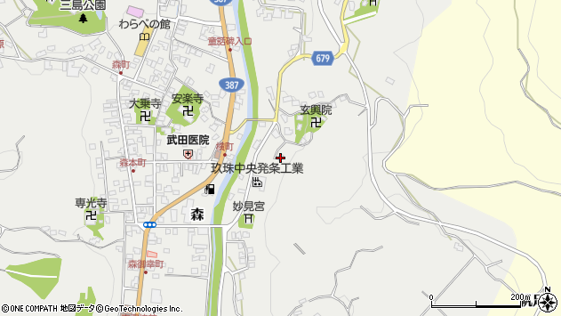 大分県玖珠郡玖珠町森621周辺の地図