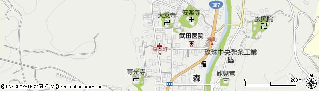 大分県玖珠郡玖珠町森933周辺の地図
