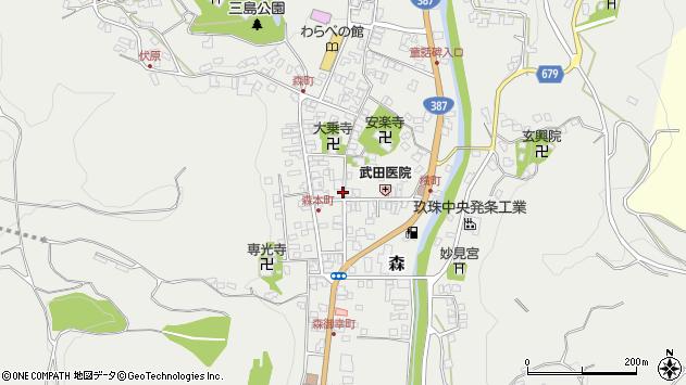 大分県玖珠郡玖珠町森937周辺の地図