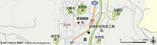大分県玖珠郡玖珠町森950周辺の地図