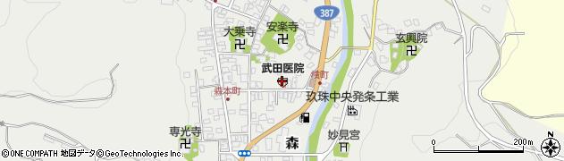 大分県玖珠郡玖珠町森955周辺の地図