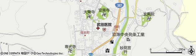 大分県玖珠郡玖珠町森945周辺の地図
