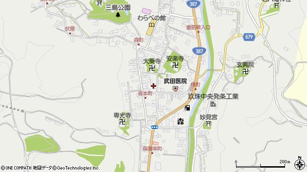 大分県玖珠郡玖珠町森938周辺の地図