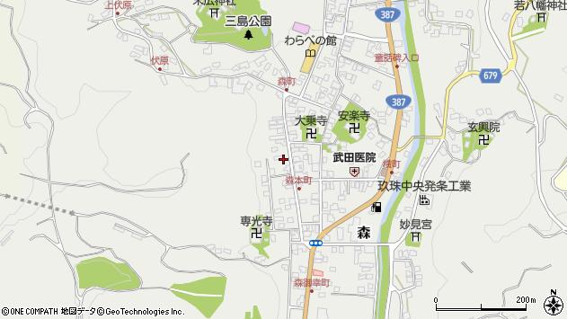 大分県玖珠郡玖珠町森1067周辺の地図