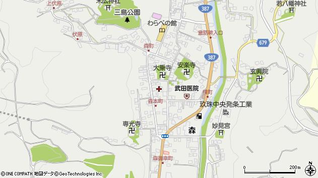大分県玖珠郡玖珠町森928周辺の地図