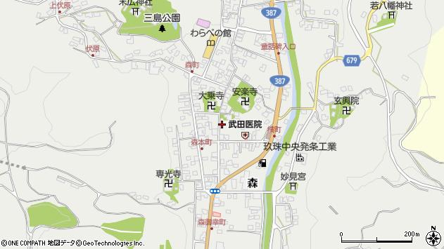 大分県玖珠郡玖珠町森943周辺の地図