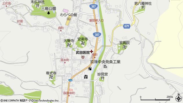 大分県玖珠郡玖珠町森706周辺の地図