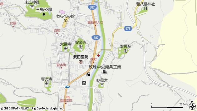 大分県玖珠郡玖珠町森693周辺の地図