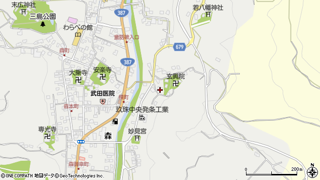 大分県玖珠郡玖珠町森584周辺の地図